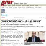 """""""Innovar és transformar les idees en resultats"""""""